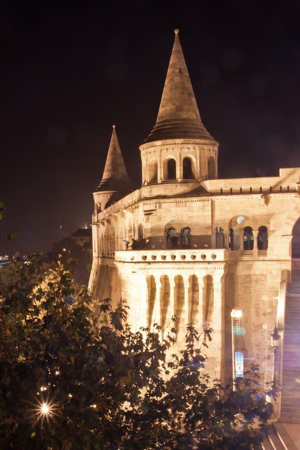 Rybaka bastion przy nocą, Budapest, Węgry zdjęcie stock