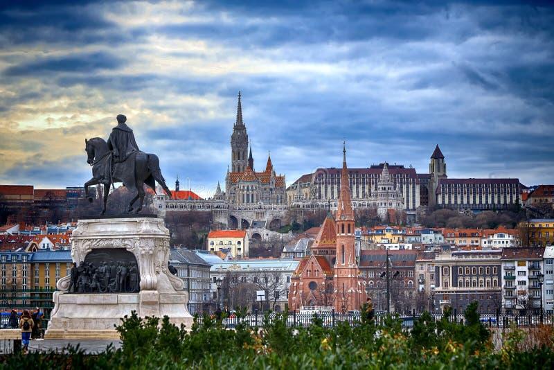 Rybaka bastionu widok, Budapest obrazy royalty free