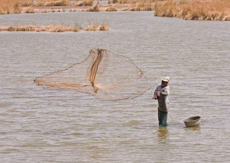 rybaka Gambia bagna obraz stock