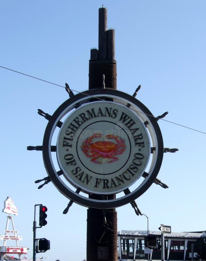 Rybaka nabrzeże San Fransisco znak obrazy stock