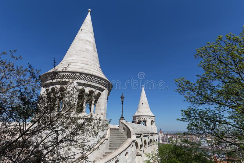 Rybaka ` s bastei Budapest Hungary zdjęcia stock
