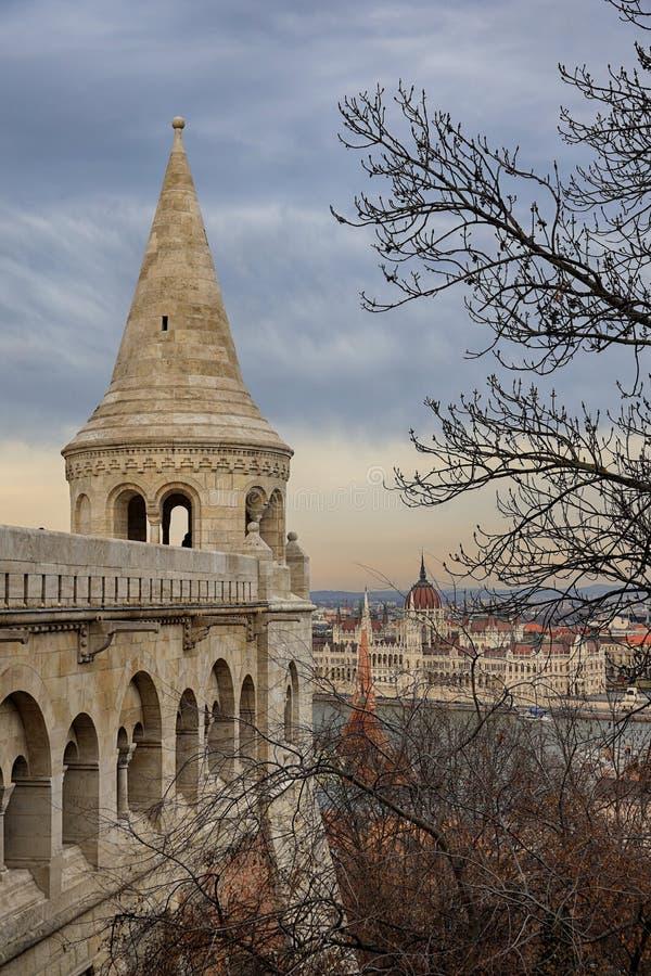 Rybaka ` s bastion w Budapest zdjęcia royalty free