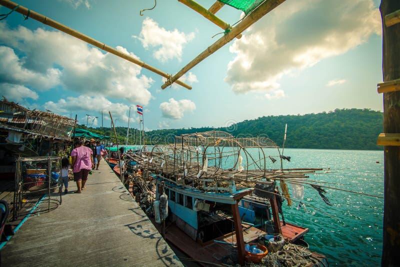Rybaka Thailand morze zdjęcia stock