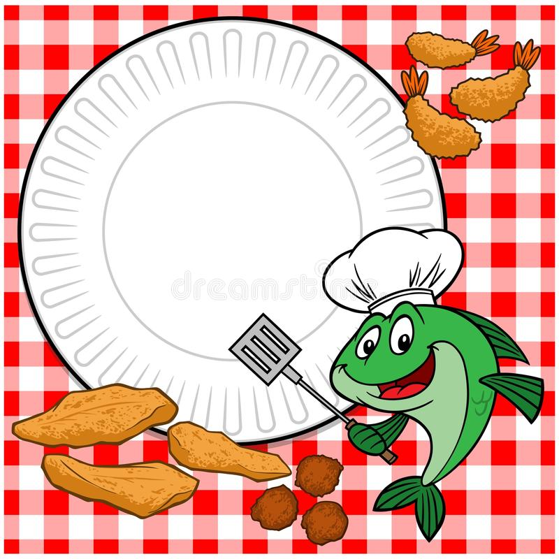 Rybi Cookout ilustracji