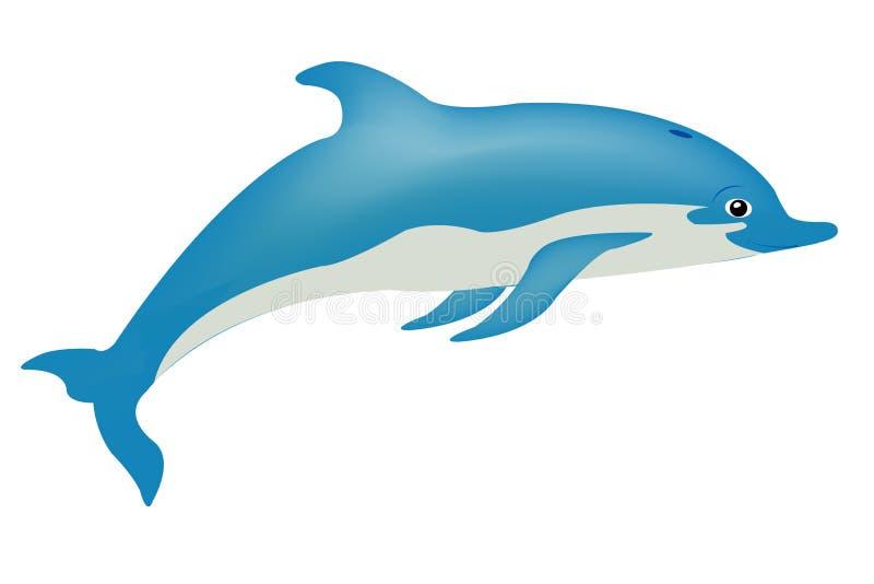 rybi delfinu biel royalty ilustracja
