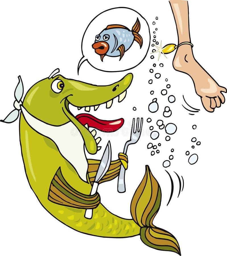 rybi głodny royalty ilustracja
