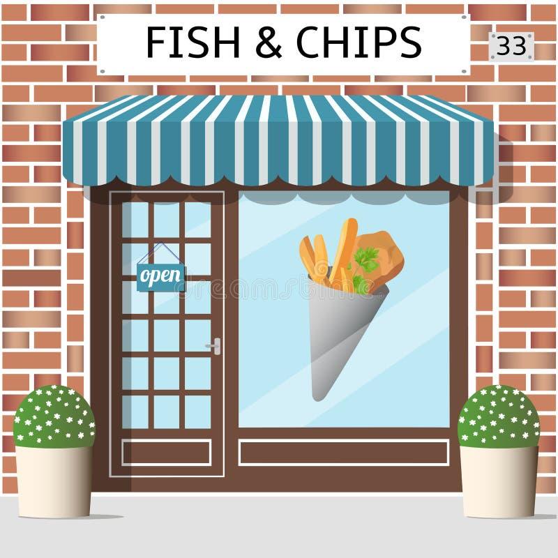 Rybi i układzie scalony cukierniani ilustracja wektor