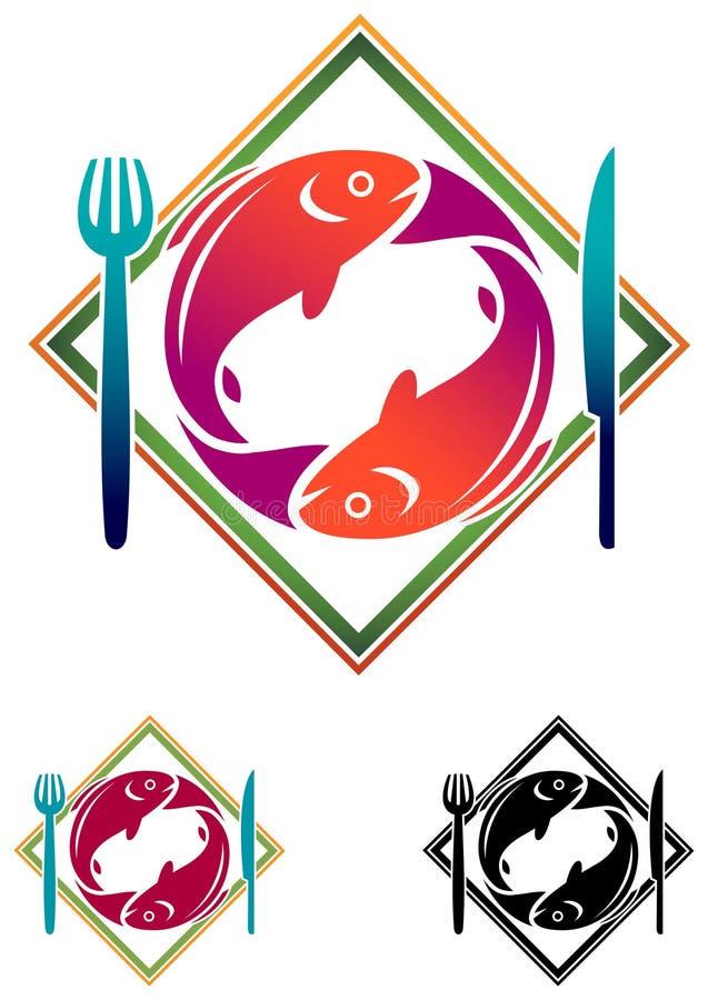 Rybi jedzenie ilustracji