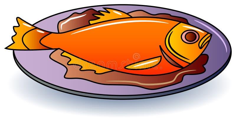 Rybi jedzenie royalty ilustracja