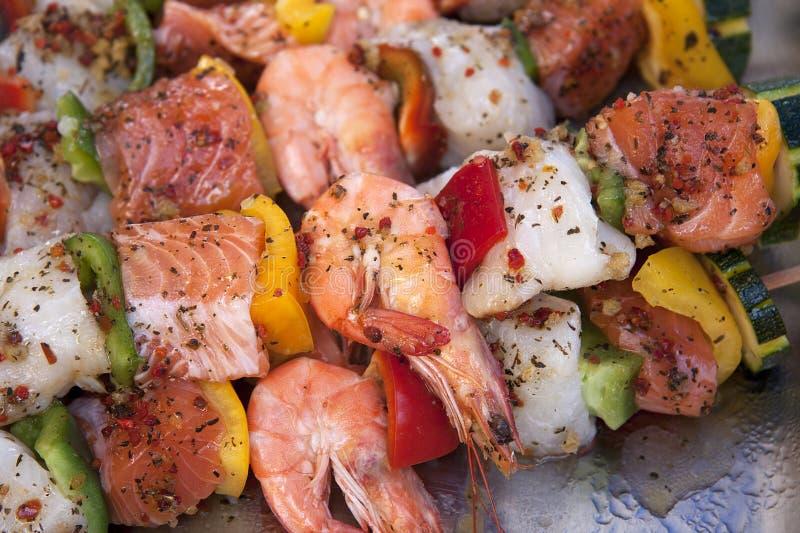 rybi kebabs zdjęcia stock