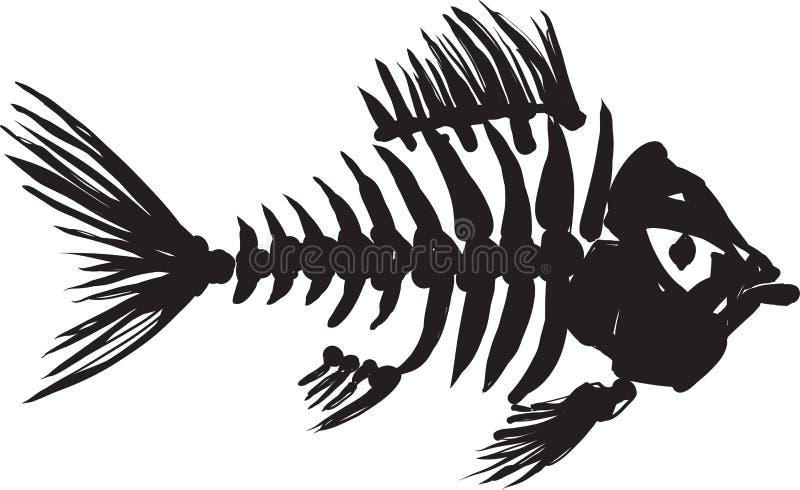Rybi kościec ilustracja wektor