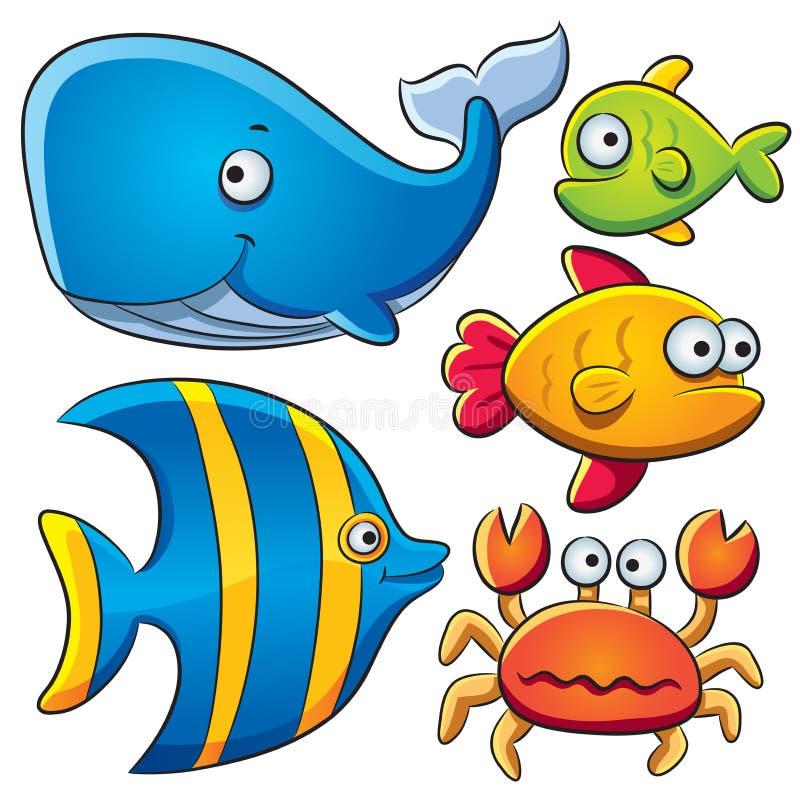 rybi kolekci morze ilustracja wektor