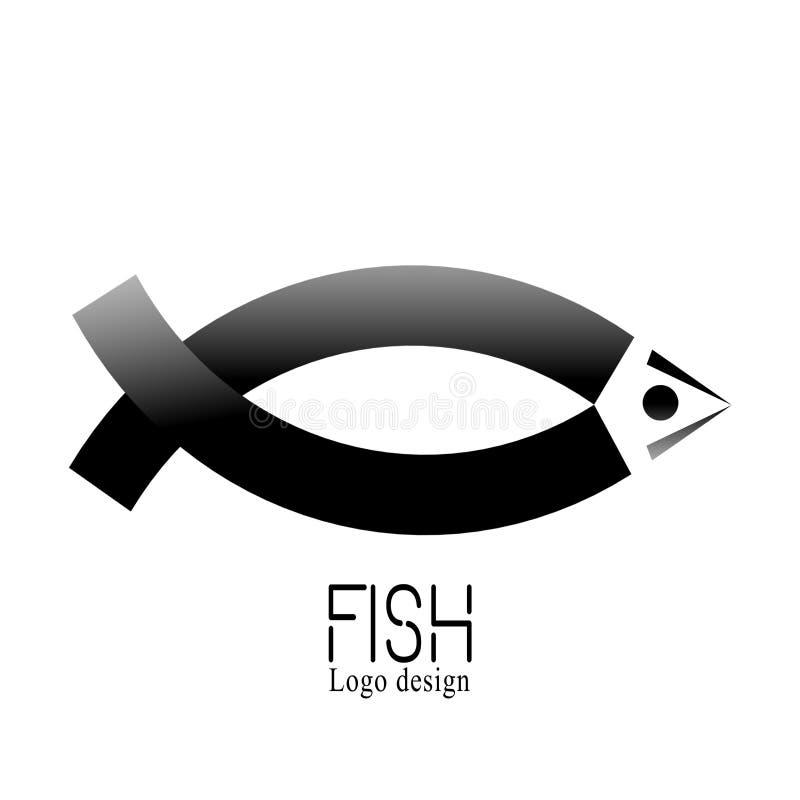 Rybi Kreatywnie logo rynek, owoce morza etykietka i odznaka, Abstact loga tasiemkowy szablon Korporacyjna ikona tak jak logotyp o royalty ilustracja