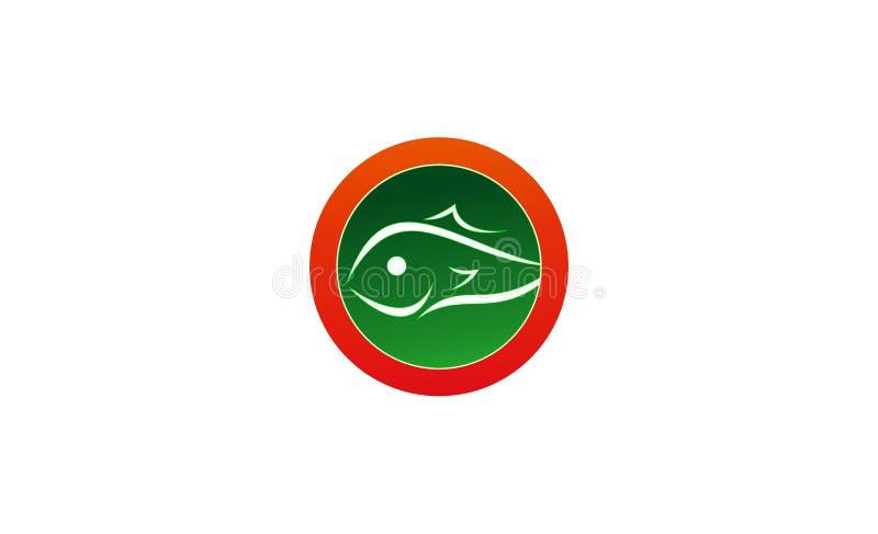 Rybi loga projekt ilustracji