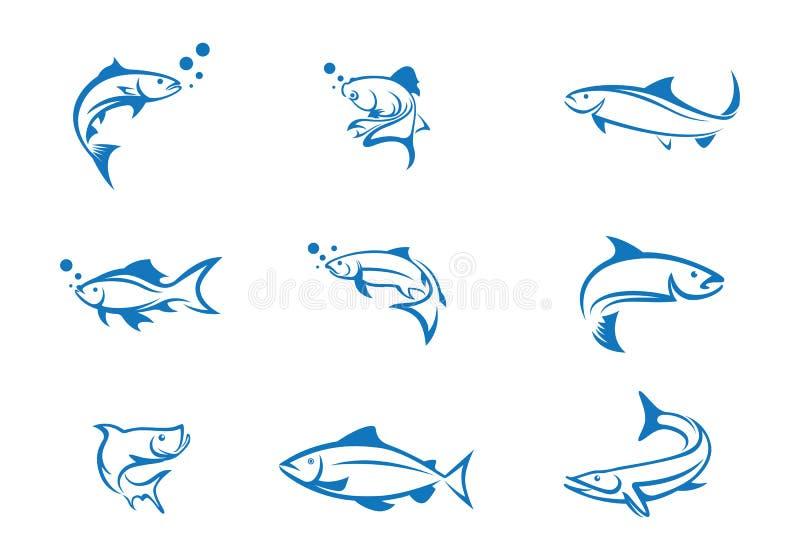 Rybi loga szablon