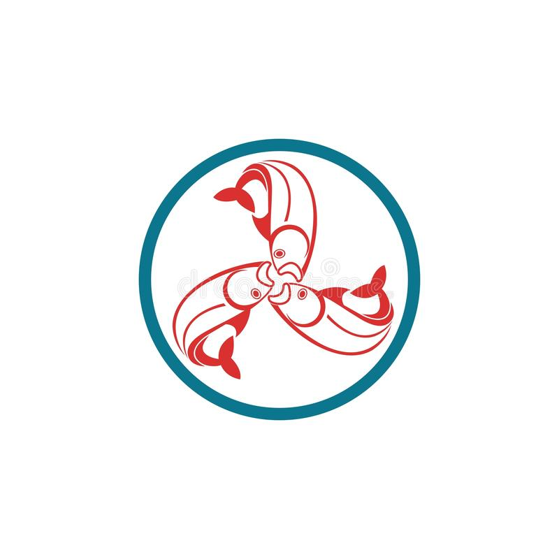 Rybi loga szablon ilustracja wektor