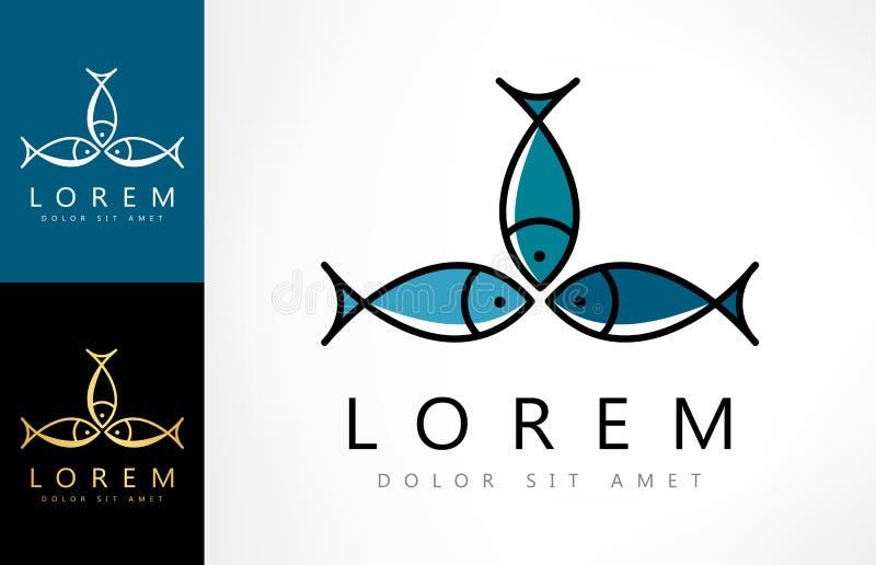 Rybi loga wektor royalty ilustracja