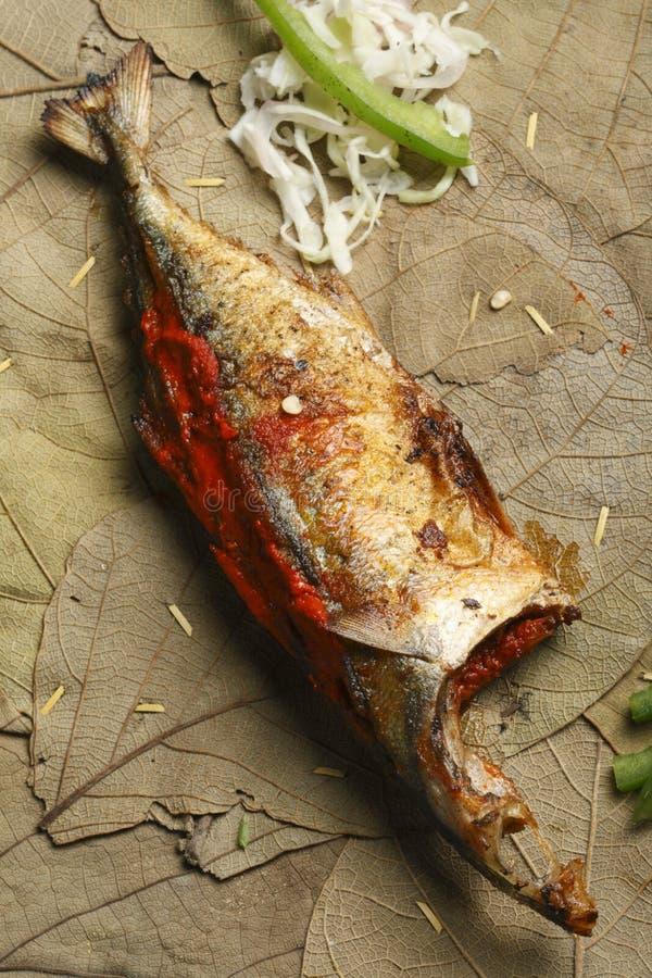Rybi Recheado jest smażącym ryba od Goa, India obrazy royalty free