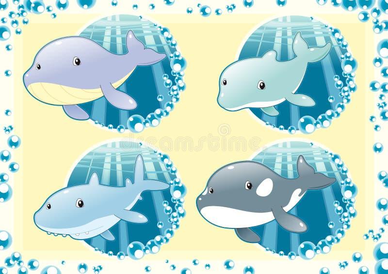 rybi rodzina ocean ilustracji