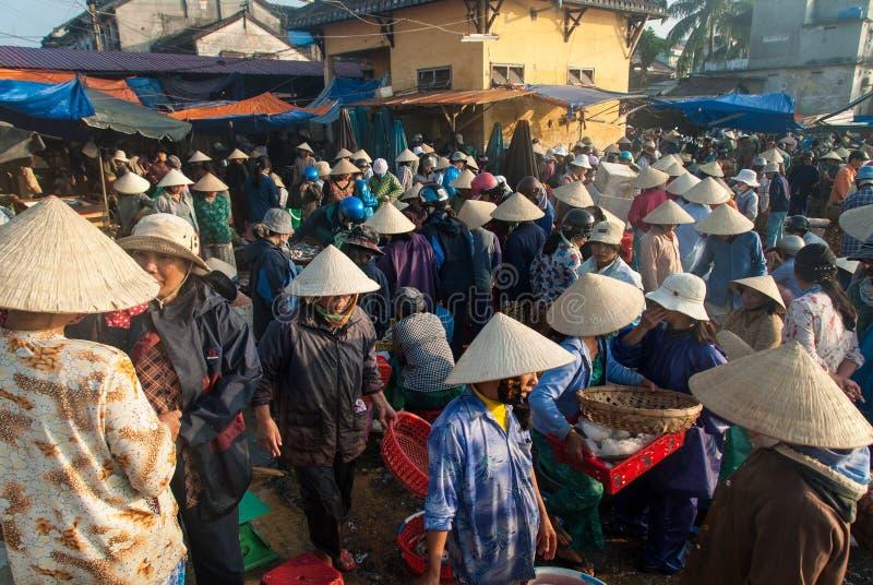 Rybi rynek Hoi, Wietnam obraz royalty free