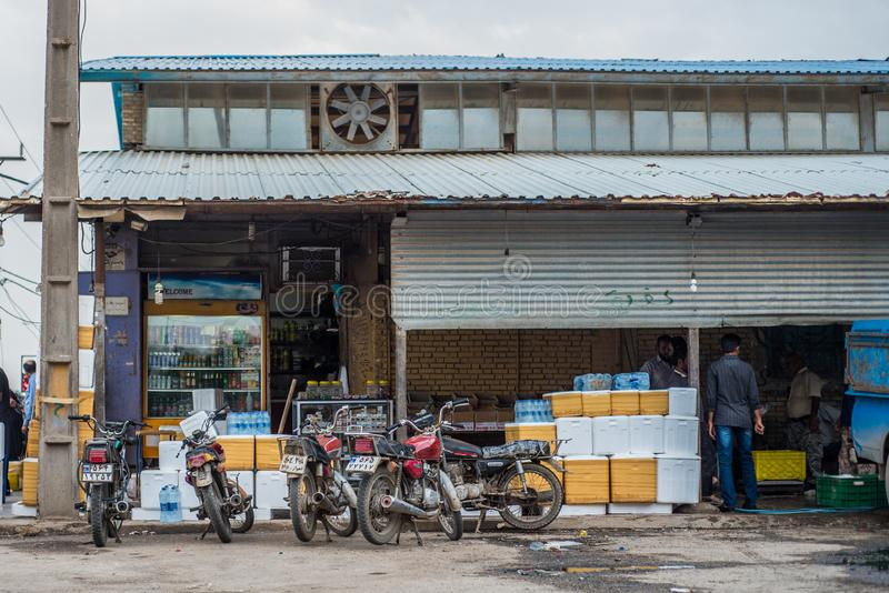 Rybi rynek w Iran obrazy stock