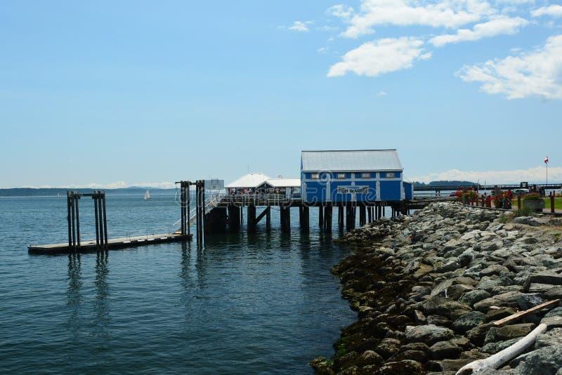 Rybi rynek w Sidney morzem BC obraz royalty free