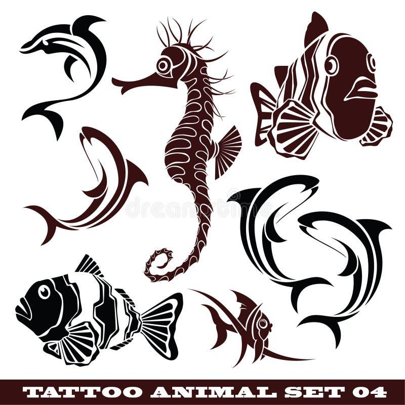 rybi tatuaż royalty ilustracja