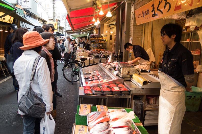 Rybi Tsukiji rynek obraz stock