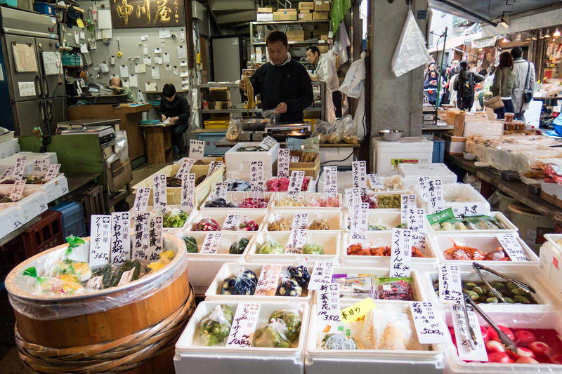 Rybi Tsukiji rynek fotografia royalty free