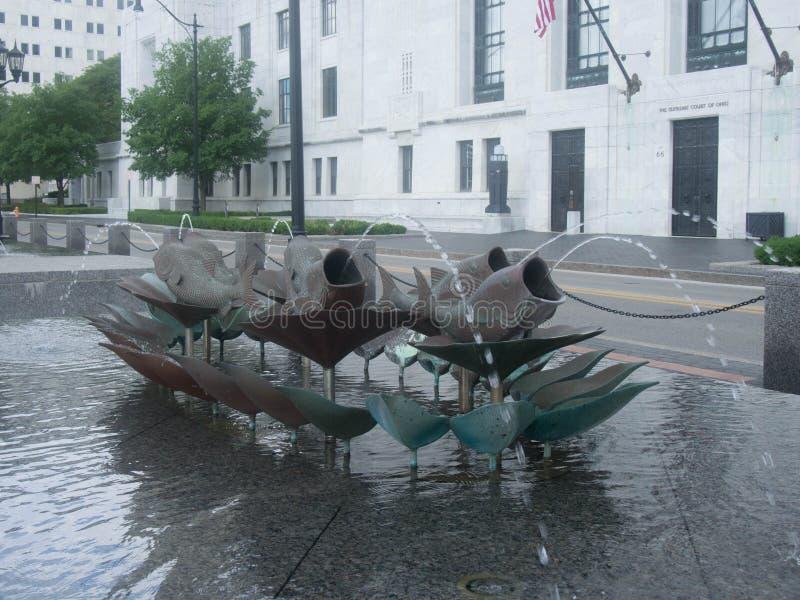 Rybia fontanna obrazy royalty free