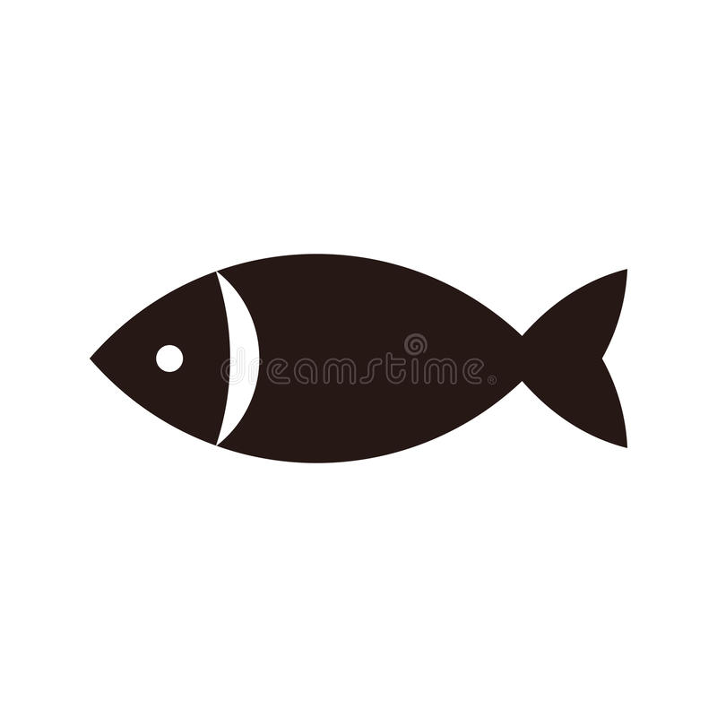 Rybia ikona royalty ilustracja