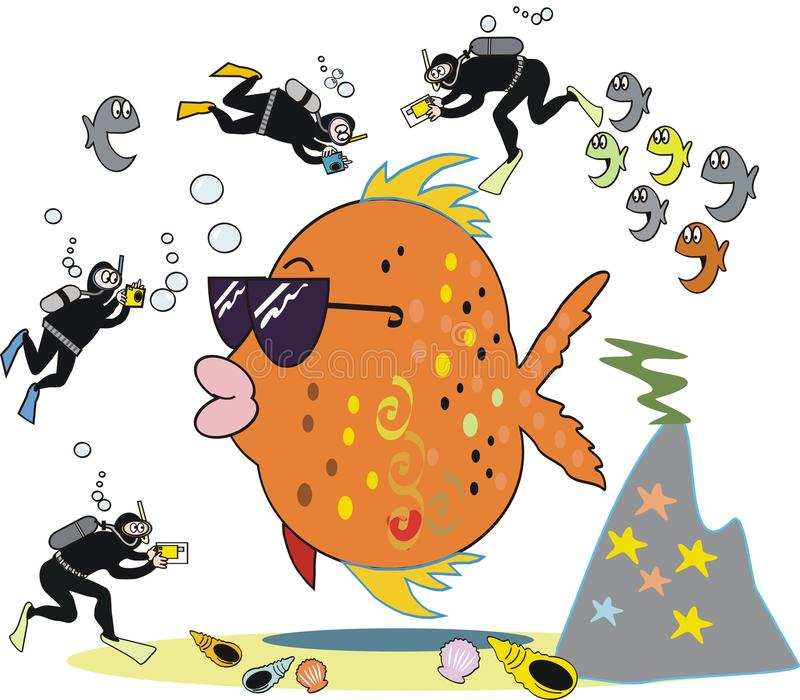 rybia kreskówki fotografia ilustracji