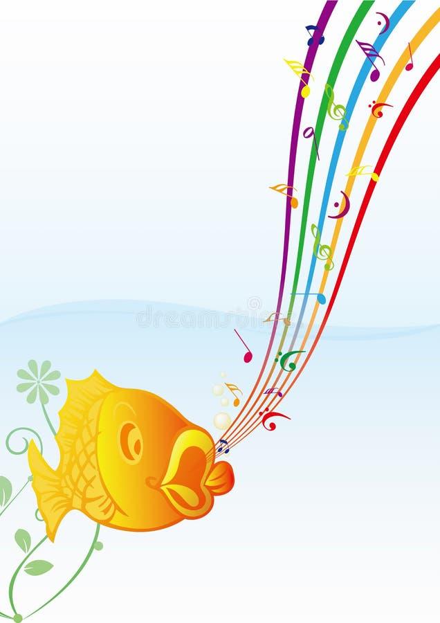 rybia muzyka ilustracja wektor