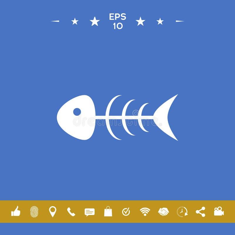 Rybia zredukowana ikona ilustracja wektor
