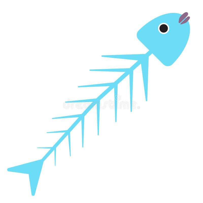 Rybia zredukowana płaska ilustracja na bielu ilustracja wektor