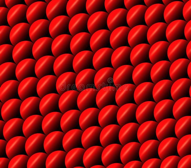 Rybie skale ilustracyjne Czerwony karp skal wzór Abstrakcjonistyczny zwierzęcy tło Squama tekstura abstrakcyjny tło ilustracja wektor