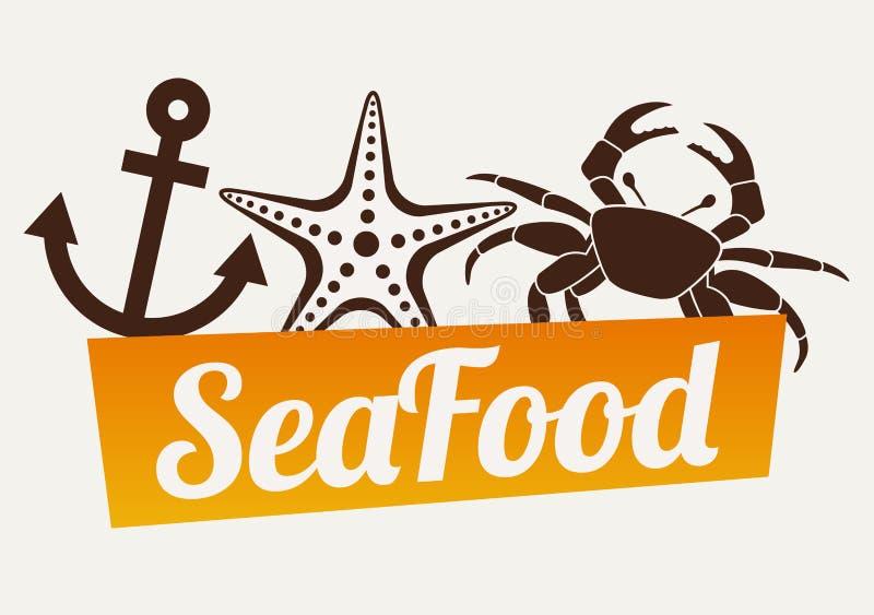 rybiego jedzenia pietruszki talerz piec morze royalty ilustracja