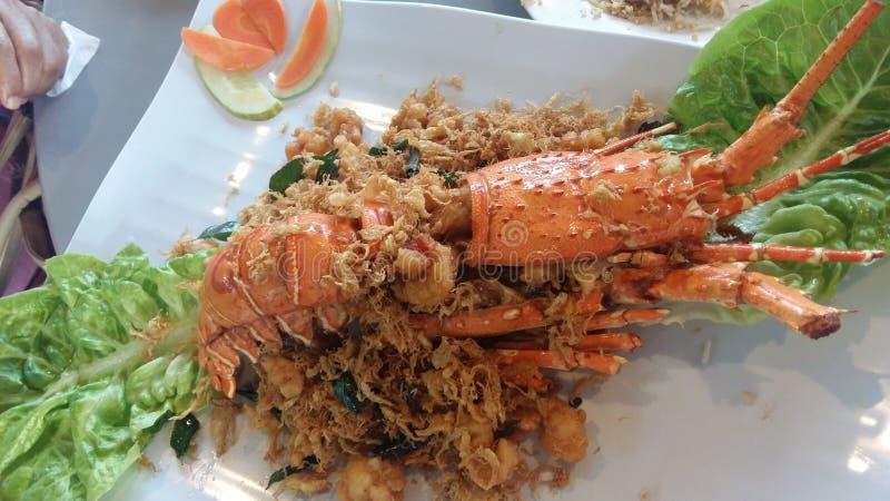 rybiego jedzenia pietruszki talerz piec morze obraz royalty free