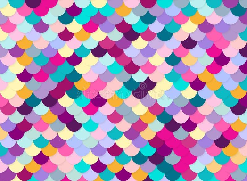Rybiej skala wzór, abstrakta akcyjny wektor, kolor tekstura, zdjęcie stock