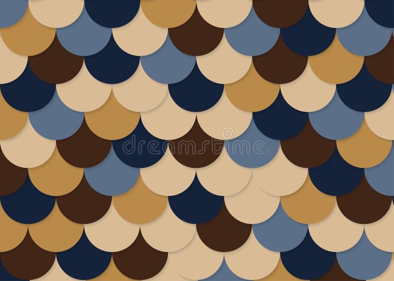 Rybiej skala wzór, abstrakta akcyjny wektor, kolor tekstura, jaskrawy colour, obraz royalty free