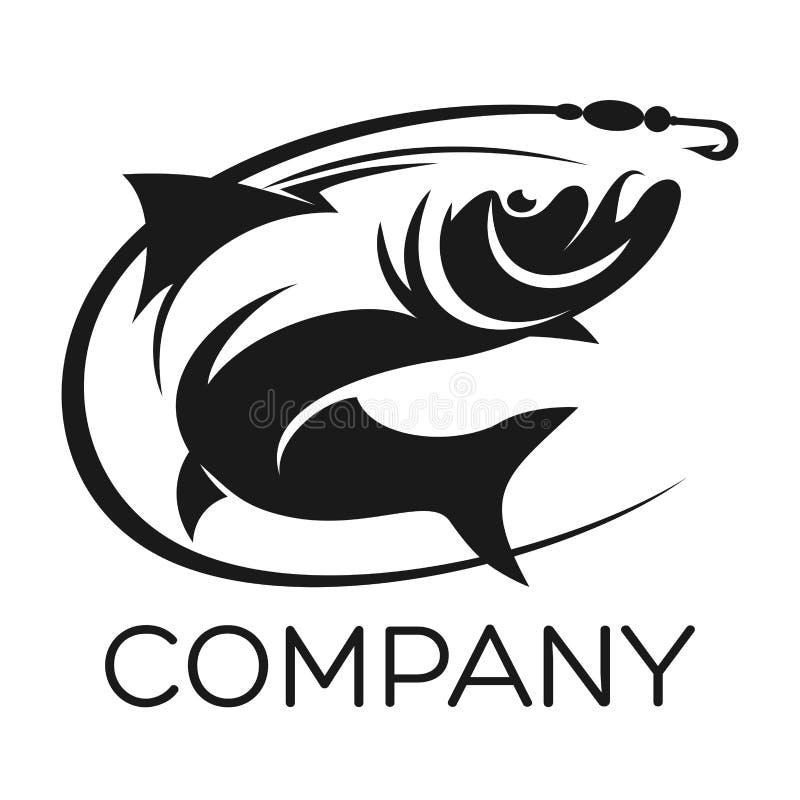 Ryby i połowu logo również zwrócić corel ilustracji wektora royalty ilustracja