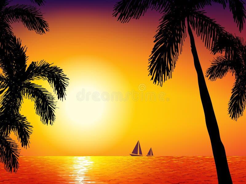 Download Ryby Morskie Statki Mewa Niebo Wznoszą Się Wschód Słońca Ilustracja Wektor - Ilustracja złożonej z fala, żagiel: 65226106
