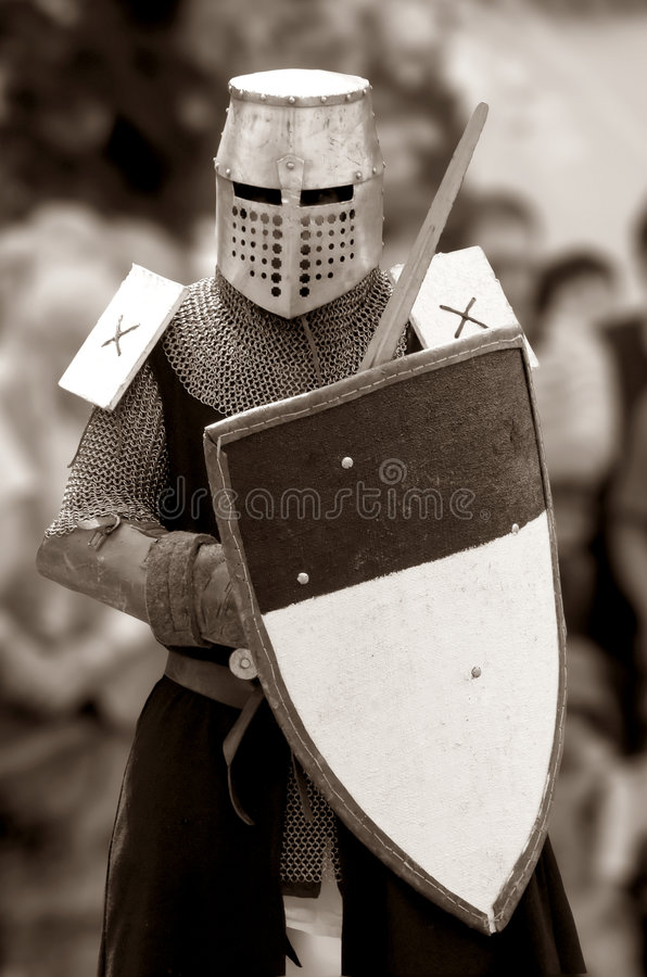 Rycerz Środkowy wiek. zdjęcie royalty free
