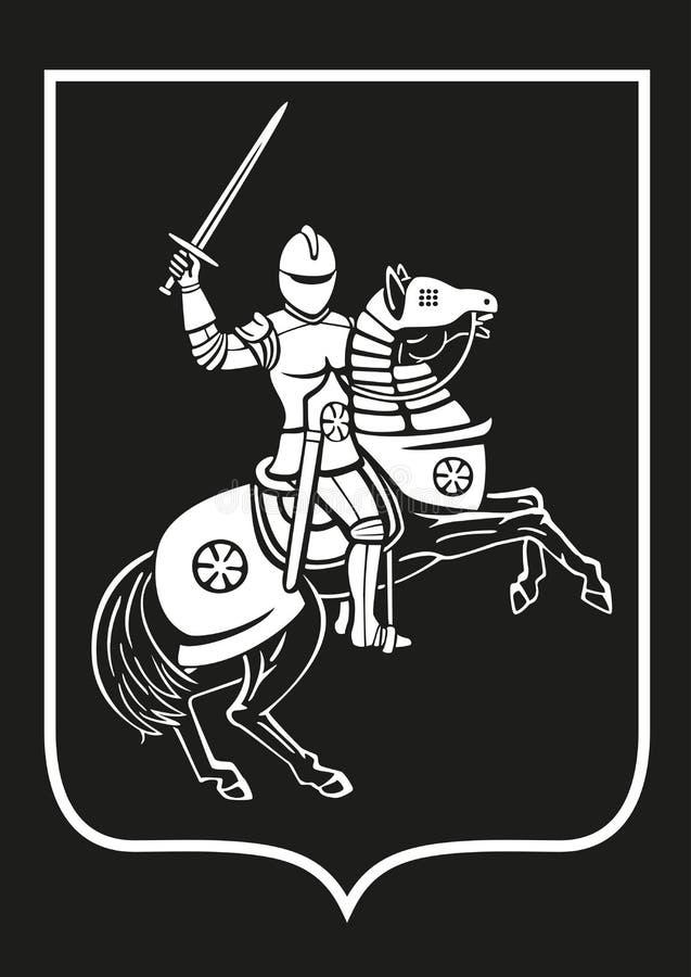 Rycerz na horseback ilustracji