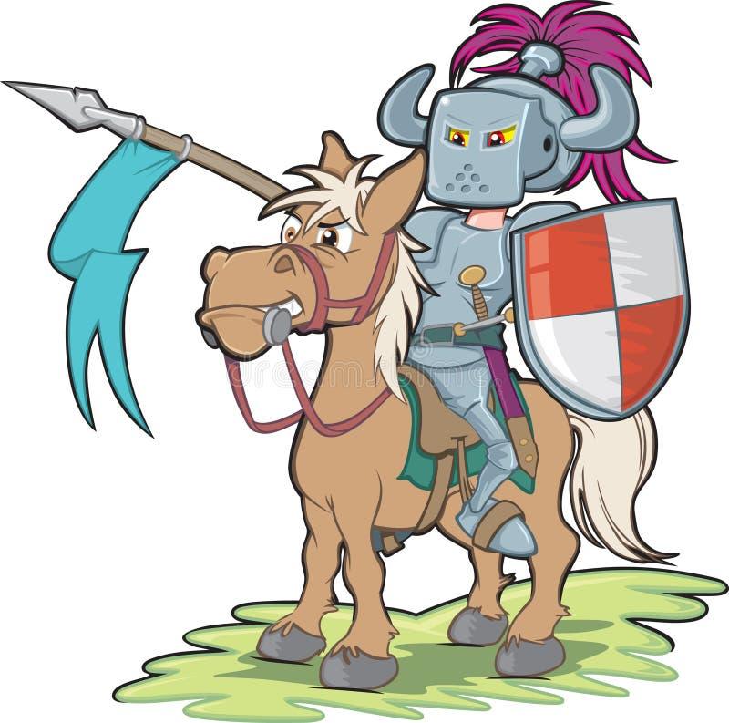 Rycerz na horseback royalty ilustracja