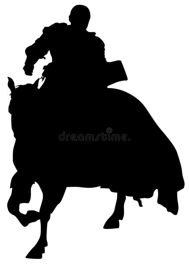 Rycerz na horseback osiem royalty ilustracja