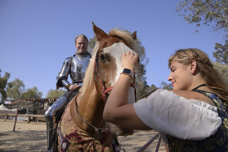 Rycerza jeździec zdjęcia stock