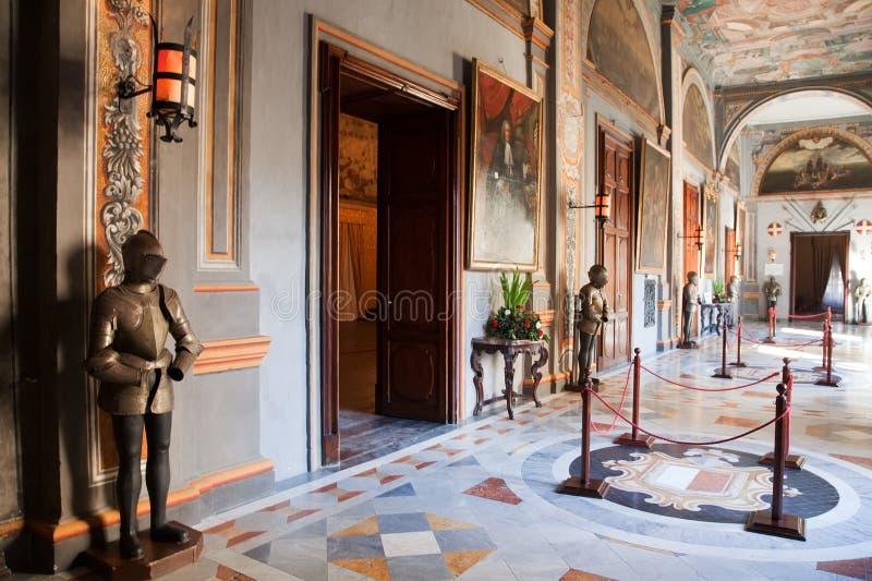 rycerza wewnętrzny pałac s zdjęcie stock