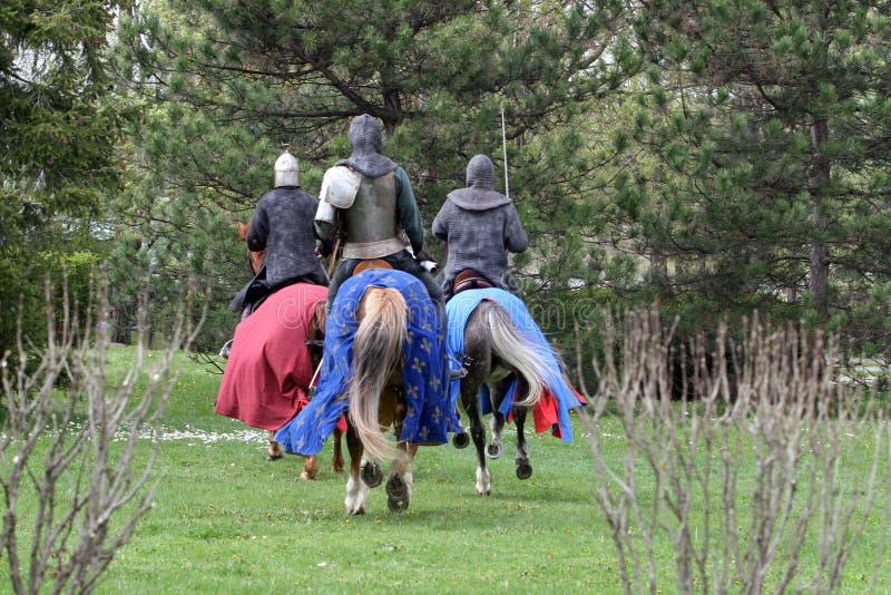rycerze średniowieczni fotografia stock