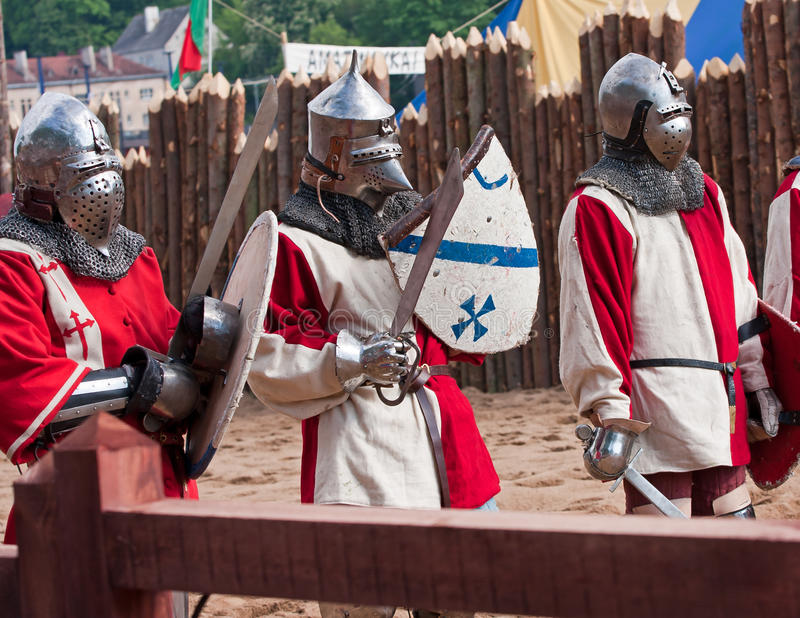 rycerze średniowieczni trzy zdjęcia stock